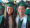 SOEST Marshals Kammie-Dominique Tavares and Justin Higa received their bachelor of science degrees in global environmental science and geology and geophysics respectively.  The University of Hawaii at Manoa's spring 2018 commencement ceremony was held at the Stan Sheriff Center on Saturday, May 12, 2018.