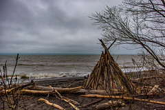 stormy lake erie bluffs