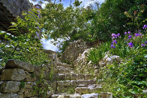 chemin escalier village banon alpesdehauteprovence provence