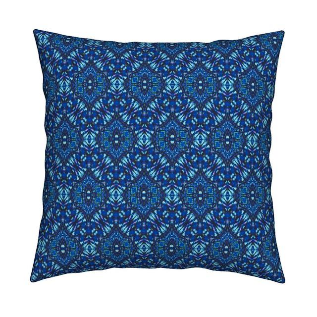 Blue Jeweled Batik