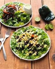 Portobello Fajita Salad