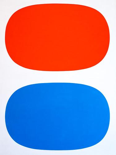 Ellsworth Kelly, Red, White, and Blue, 1961, Oil on linen 1/15/18 #whitneymuseum