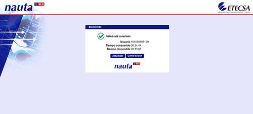 Conectándose a un hotspot de Nauta