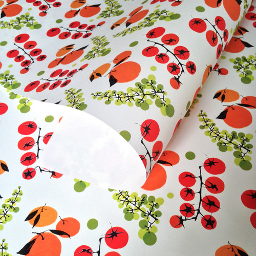Fruit and Vegetable Print Wrapping Paper