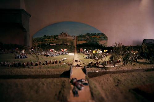 Museo di Anghiari: plastico della battaglia