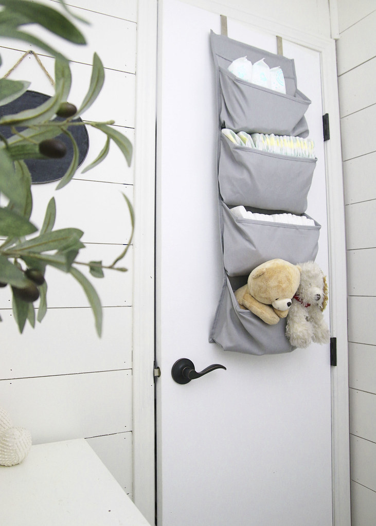 Small Nursery Gray Bedroom Storage