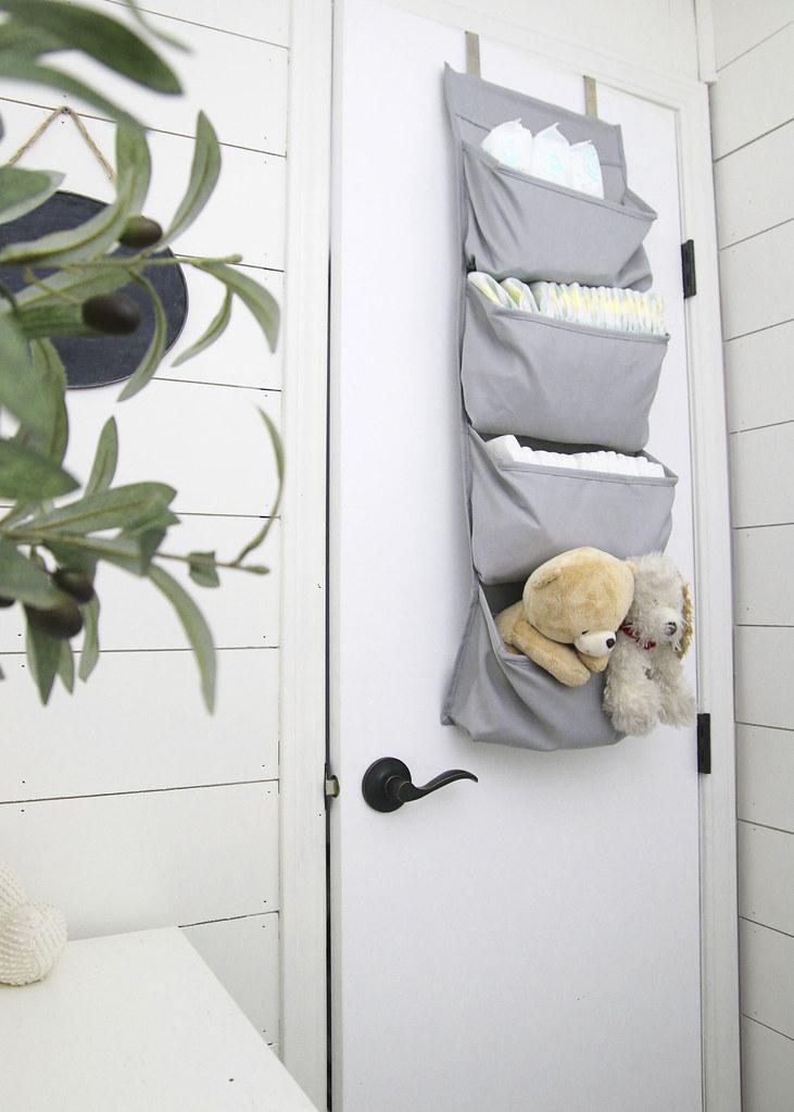 Small Nursery Gray Bedroom Storage