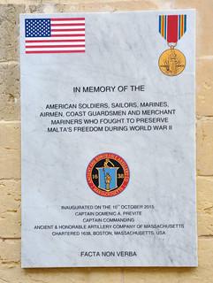 US Memorial, Malta