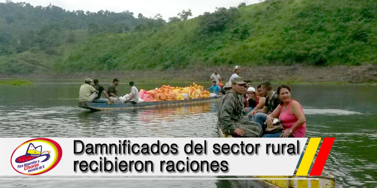 Damnificados del sector rural recibieron raciones