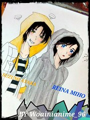 Fanart of Suzumi Ayaka&Reina Miho~ Art by NorAiniDin @Woainianime_96 ~