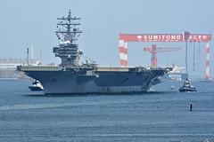USS Ronald Reagan (CVN 76) approaches Fleet Activities Yokosuka, July 24. (U.S. Navy/MC1 Peter Burghart)