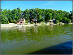 Boat trip from Szentendre to Budapest (Hungary)