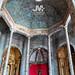 interior de la iglesia octogonal de las dominicas en Elvas, Portugal