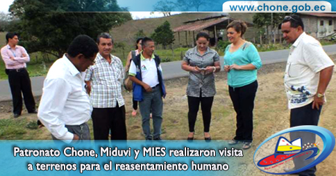Patronato Chone, Miduvi y MIES realizaron visita a terrenos para el reasentamiento humano