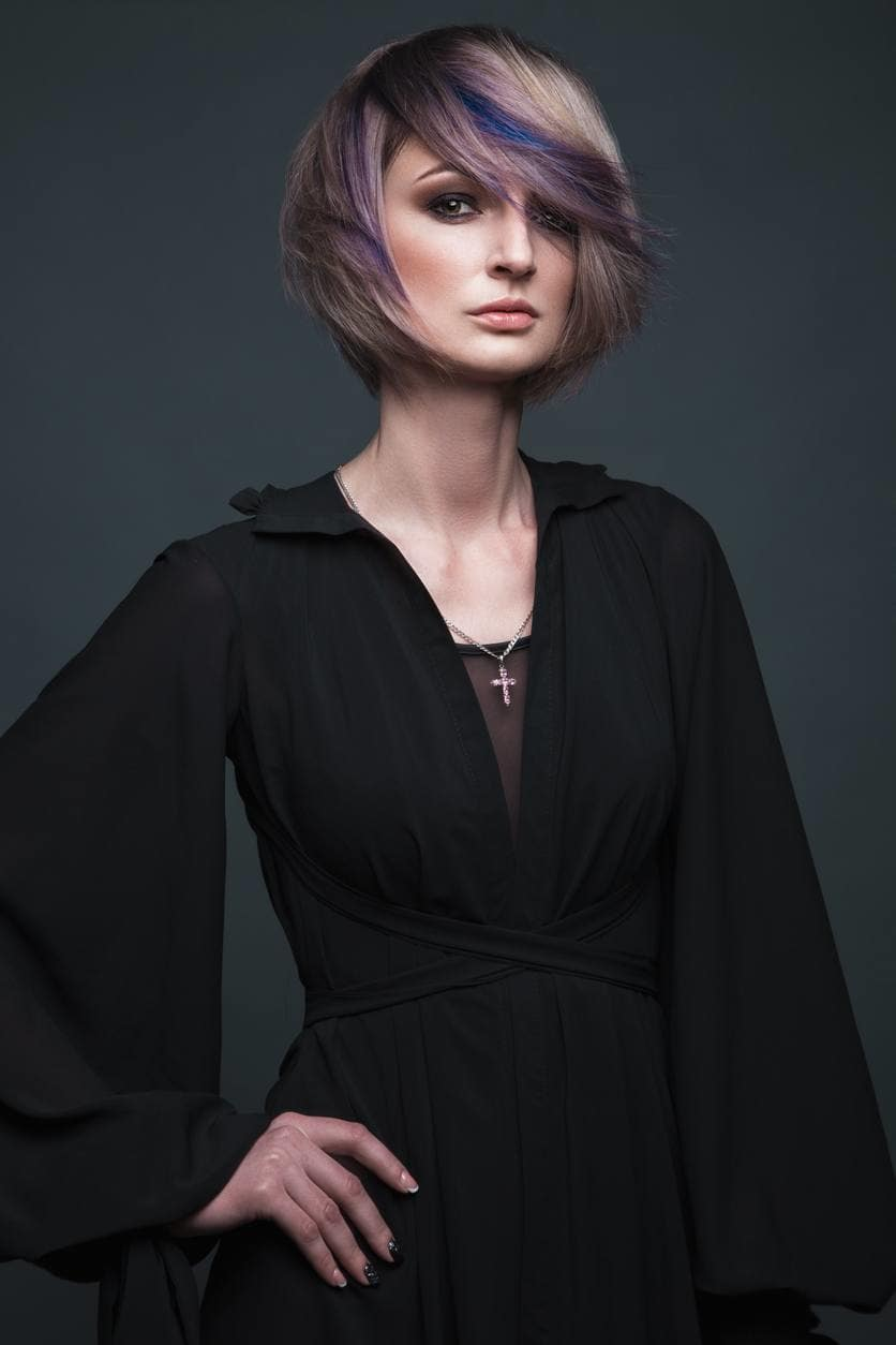 Purple Highlights Hairstyles -Sparkle With This Styles And Ideas 1