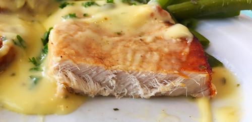 Pork steak - Lateral cut / Schweinerückensteak - Querschnitt
