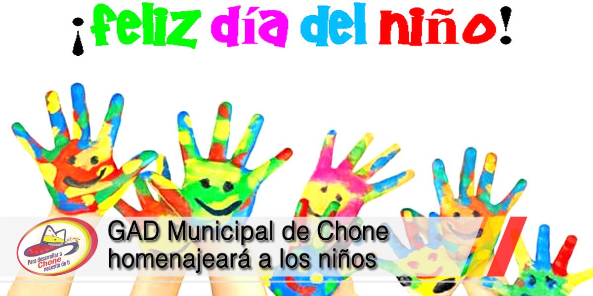 GAD Municipal de Chone homenajeará a los niños