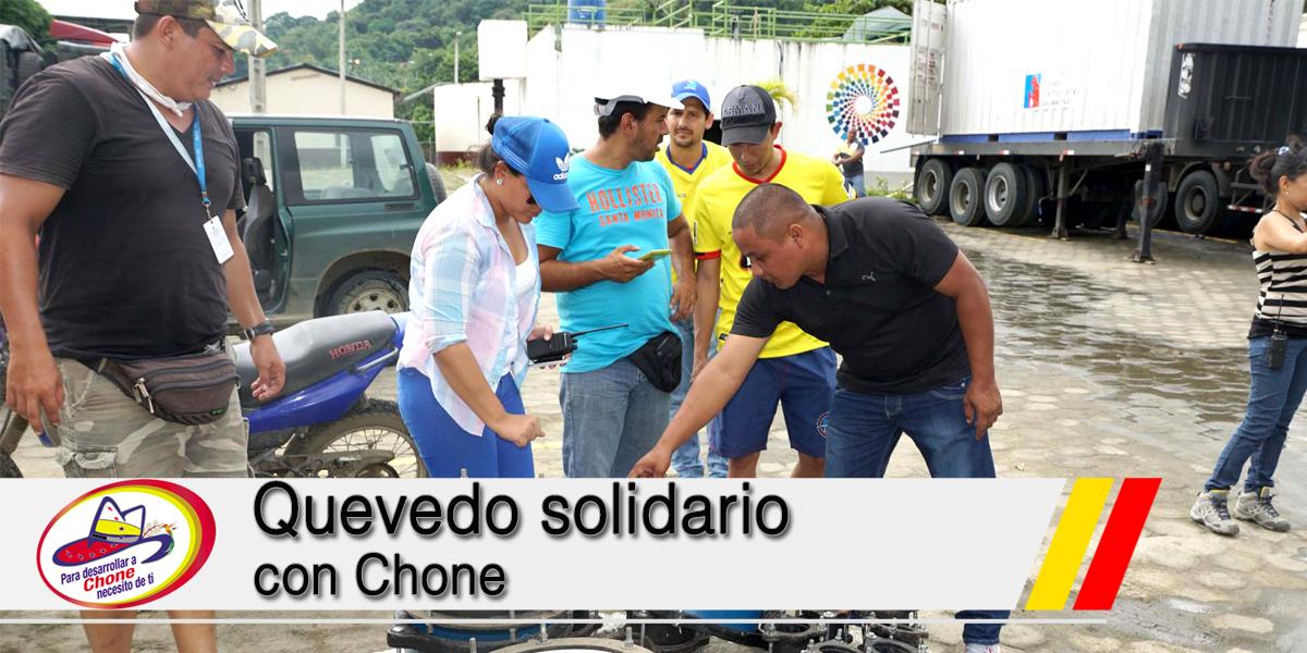 Quevedo solidario con Chone