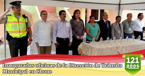 Inauguradas oficinas de la Dirección de Tránsito Municipal en Chone