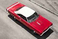 Red 1968 Dodge Super Bee
