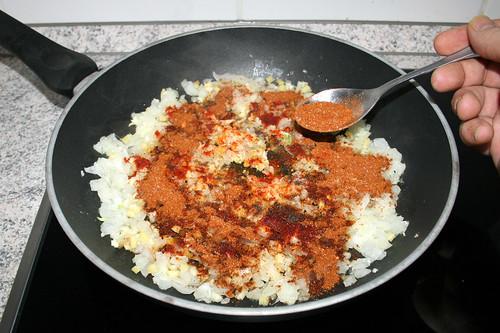35 - Berber-Gewürzmischung addieren / Add berbere spice blend