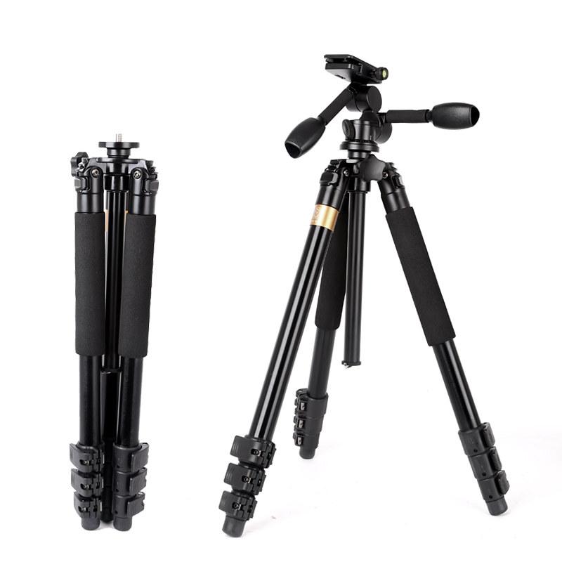 Chân máy ảnh quay phim 2 tay cầm pan tilt QZSD Q620 chịu lực 15kg cao đến 183cm