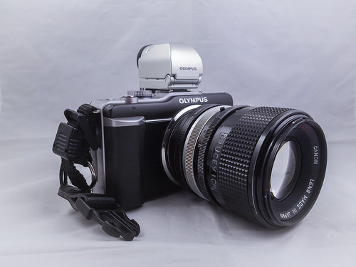 Canon legacy lens on Olympus Pen