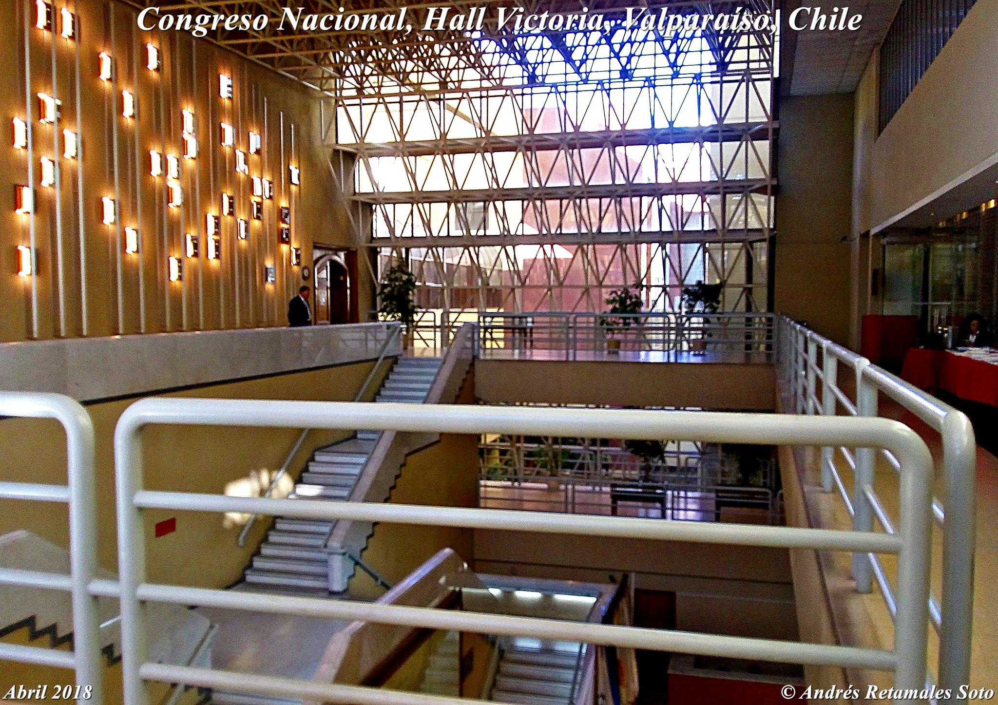Congreso Nacional, Hall Victoria, Valparaíso, Chile, abril 2018