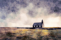 Icelandic Church in Watercolor