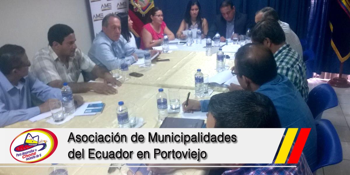 Asociación de Municipalidades del Ecuador en Portoviejo