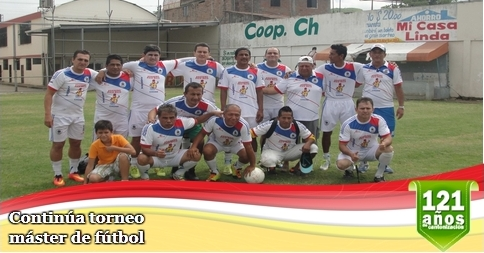 Continúa torneo máster de fútbol