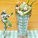 Matcha Ice Cream Crêpes