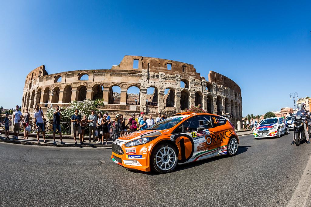22 Simone Campedelli (ITA), Tania Canton (CH), FORD FIESTA R5, action during the 2018 European Rally Championship ERC Rally di Roma Capitale,  from july 20 to 22 , at Fiuggi, Italia - Photo Thomas Fenetre / DPPI