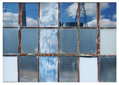 window with the blues