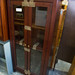 Mahogany storage unit glass drawers E125