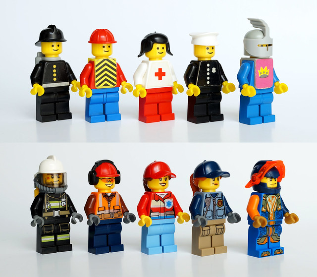 40 years of evolution LEGO minifigures