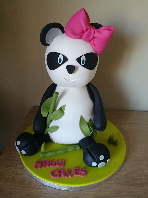Cute Panda Cake by MaguiCakes