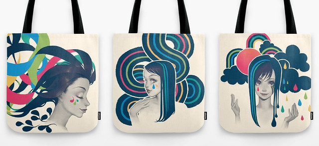 Tote bag with my work on it!