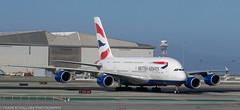 British Airways A-380 at KSFO