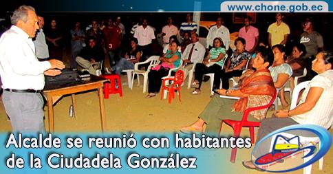 Alcalde se reunió con habitantes de la Ciudadela González