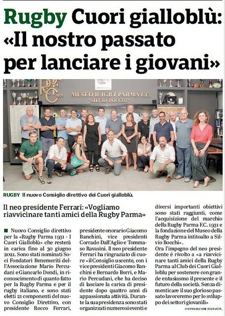 Gazzetta di Parma 13.07.18 - Nuovo consiglio Cuori Gialloblu