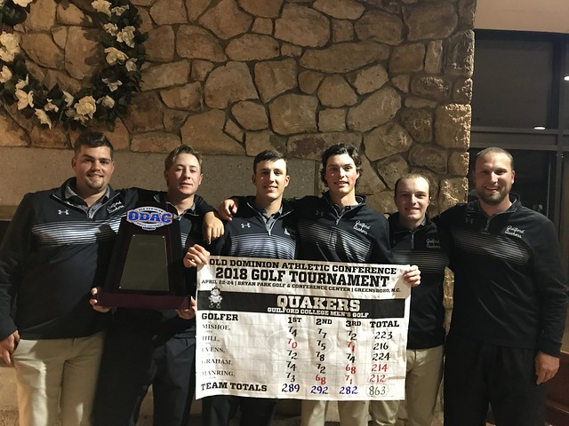 Guilford College 2018 ODAC Men's Golf Champions