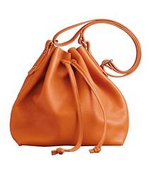 Best Handbags and Purses : #ShopBAZAAR Editors' Picks from J.McLaughlin –Tangerine Orange Champers Leathe...