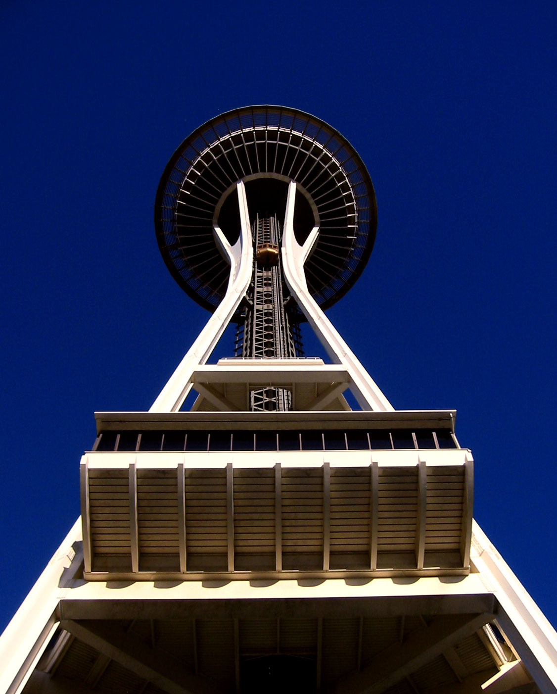 View from the base of the Space Needle in 2007.