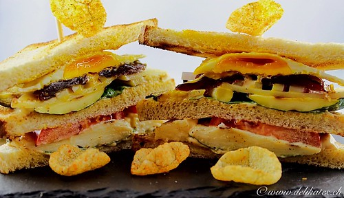 Vegetarisches Club-Sandwich Rezept