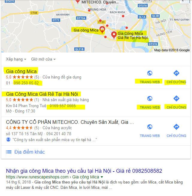 Địa chỉ gia công Mica ở Hà Nội