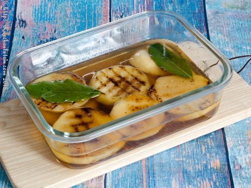 Gegrillte Kohlrabi-Canapés mit Tomaten-Kompott (2)
