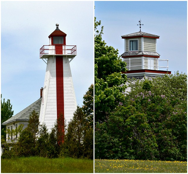 Georgetown Back Range Light (L) and Former Georgetown Front Range Light (R), Georgetown, PEI