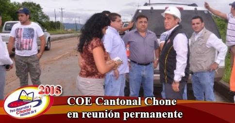 COE Cantonal Chone en reunión permanente