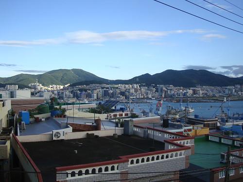Busan nach dem Taifun Nr. 7 PRAPIROON